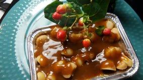 Toffee Cake with macadamia Stock Photos