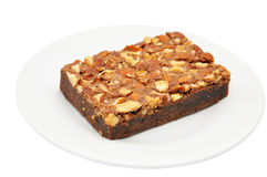Toffee cake. On a white background Royalty Free Stock Photos