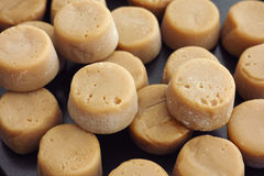 Toffee caramels candy. Close up Stock Image