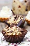 Toffee cupcakes Stock Photos
