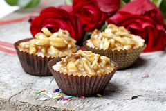 Toffee cupcakes Stock Image