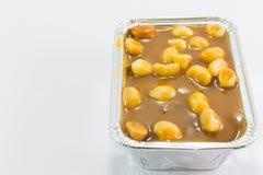 Toffee macadamia nut  cake Royalty Free Stock Image