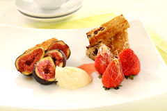 Toffee Strawberries And Figs Stock Images