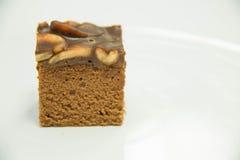 Toffee tort na białym tle Zdjęcia Stock