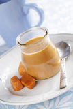 Toffee yogurt Stock Photography