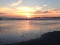Tofino bei Sonnenuntergang Lizenzfreie Stockfotos