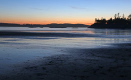 Tofino Coastline Sunset Royalty Free Stock Photos