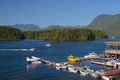 Tofino Harbour, BC. Harbor of Tofino in British Columbia stock images