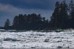 Tofino. Long Beach Waves Ocean stock images