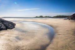 Tofino plaży zachodnie wybrzeże Vancouver wyspa Fotografia Stock