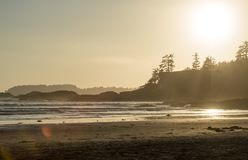 Tofino. Sunset at the world famous Wickaninnish Inn in Tofino, British Columbia, Canada Stock Photo