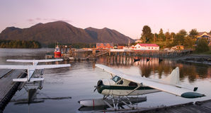 Tofino village in late evening, British Columbia Royalty Free Stock Photo