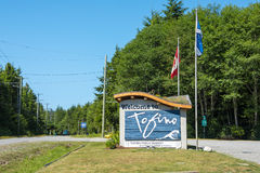 Tofino Welcome sign Royalty Free Stock Photos