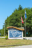 Tofino Welcome sign Royalty Free Stock Photography