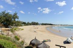 Tofo海滩-维兰库洛,莫桑比克 免版税库存照片
