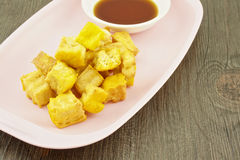 Tofo fried with soy Royalty Free Stock Photo