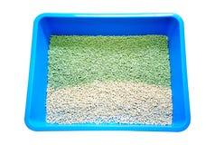 Tofu η άμμος για τα κατοικίδια ζώα ή η άμμος κατοικίδιων ζώων φιαγμένη από tofu απομόνωσε 180325 004 Στοκ Φωτογραφίες