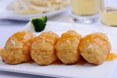 Tofu θαλασσινών με την κρεμώδη σάλτσα στοκ εικόνες με δικαίωμα ελεύθερης χρήσης