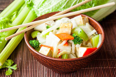 Tofu με τα λαχανικά Στοκ εικόνα με δικαίωμα ελεύθερης χρήσης