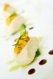 Tofu με τη σαλάτα καλαμποκιού Στοκ φωτογραφία με δικαίωμα ελεύθερης χρήσης