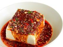 Tofu που ντύνεται κρύο με τη σάλτσα Στοκ Εικόνα