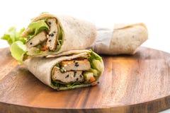 tofu ρόλος σαλάτας περικαλυμμάτων Στοκ εικόνες με δικαίωμα ελεύθερης χρήσης