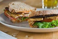 tofu σάντουιτς λεσχών Στοκ Φωτογραφίες
