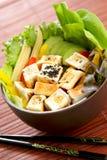 tofu салата еды здоровый стоковые изображения