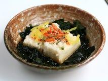 Tofu. Fried with algae, japanese food Royalty Free Stock Photo