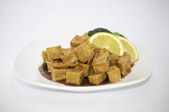 Tofu all 'arancia Fotografia Stock Libera da Diritti