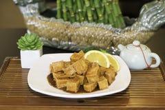 Tofu all 'arancia Immagini Stock Libere da Diritti