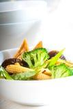 Tofu beancurd en groenten Stock Afbeeldingen