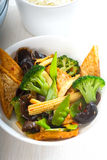 Tofu beancurd and vegetables Royalty Free Stock Images