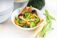 Tofu beancurd and vegetables Stock Image