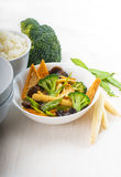 Tofu beancurd and vegetables Royalty Free Stock Photos