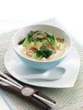Tofu bok choy σούπα καρύδων Στοκ Εικόνα