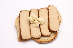 Tofu on bread Royalty Free Stock Images