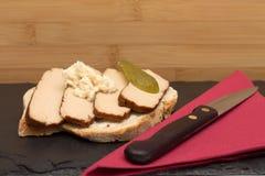 Tofu on bread Stock Photo