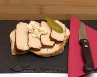 Tofu on bread Stock Photography