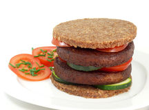 Tofu-burger Stock Photo