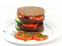 Tofu-burger Royalty Free Stock Image
