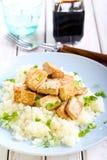 Tofu and cauliflower Stock Image