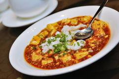 Tofu in chili sauce Stock Image
