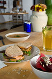 Tofu Club Sandwich Royalty Free Stock Images