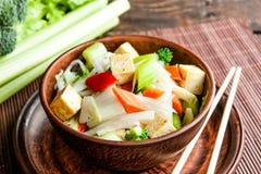 Tofu com vegetais Imagem de Stock Royalty Free