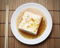 Tofu con completato dall'insieme giapponese della salsa fotografia stock