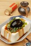 Tofu con le uova conservate Fotografia Stock