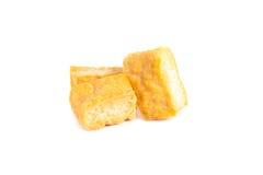 Tofu de caillette de haricots au-dessus du fond blanc Photographie stock libre de droits