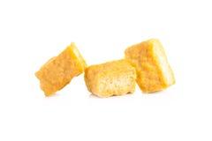 Tofu de caillette de haricots au-dessus du fond blanc Photos stock