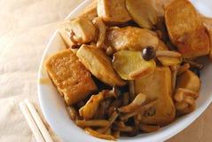Tofu de champignon de couche Photo stock